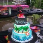 Beach Graduation Cake