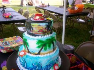 Beach Graduation Cake 2