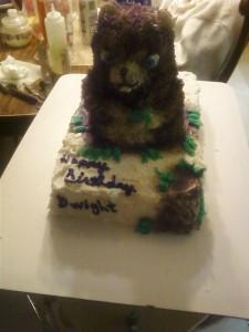 Groundhog Cake 3