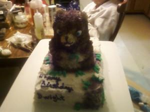 Groundhog Cake 4