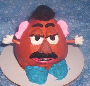 Mr. Potato Head cupcake