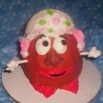 Mrs. Potato Head cupcake