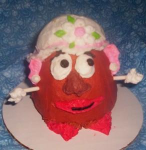 Mrs. Potato Head cupcake