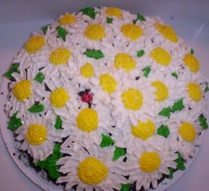 daisy cake with ladybug 2
