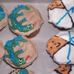 dragon cupcakes and karate cupcakes