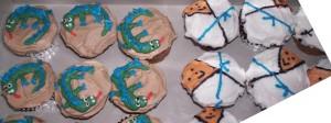 dragon cupcakes and karate cupcakes